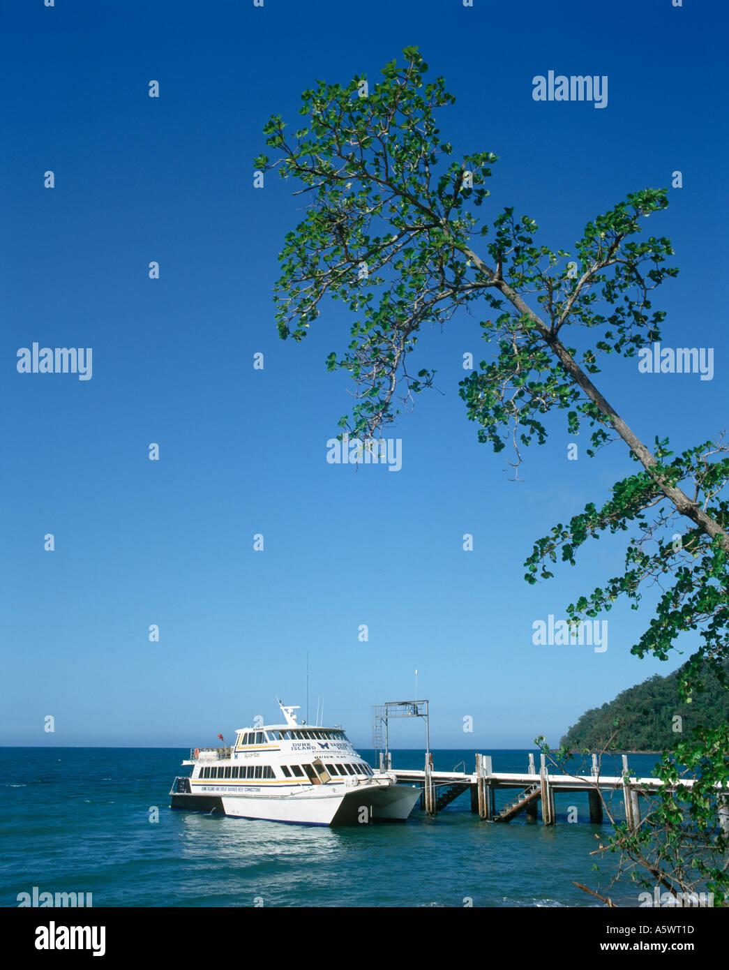 Quick Cat Ferry, Dunk Island, North Queensland, Australia - Stock Image