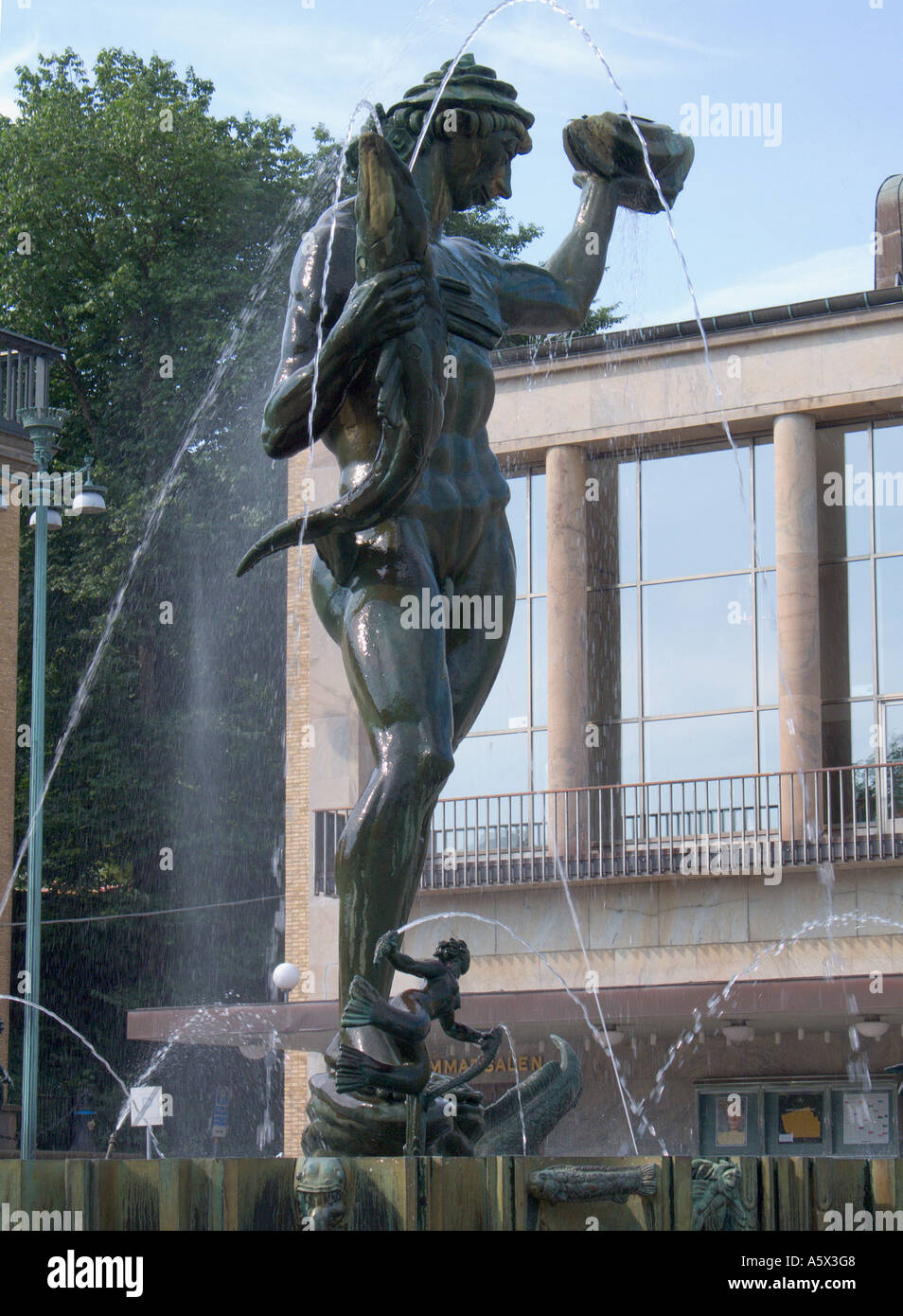 Statue of Poseidon Gotaplatsen Gothenburg Sweden - Stock Image