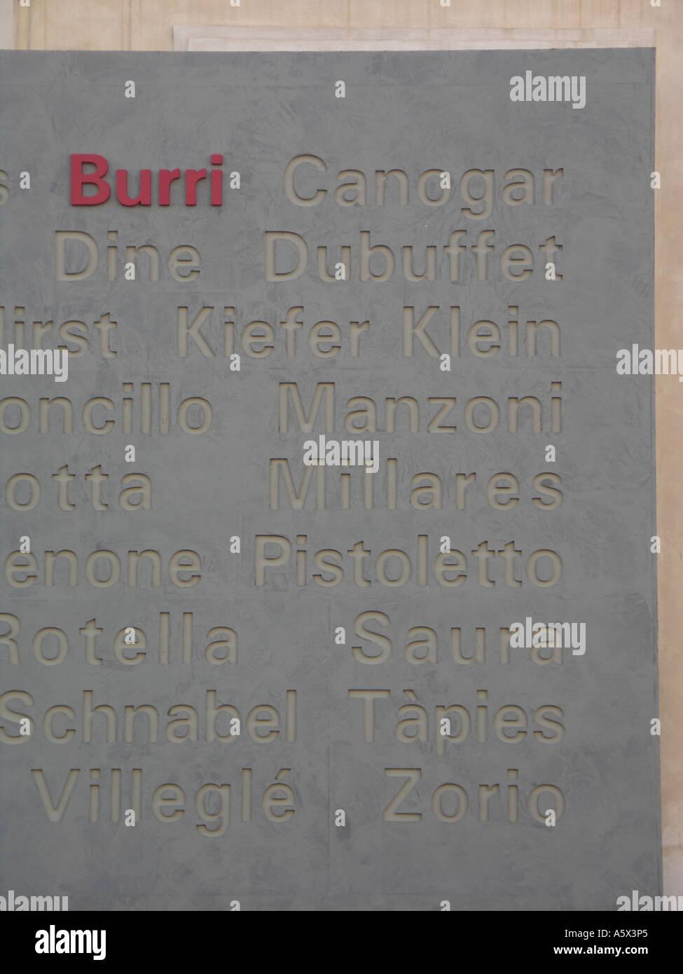 alberto burri exposition in rome - Stock Image