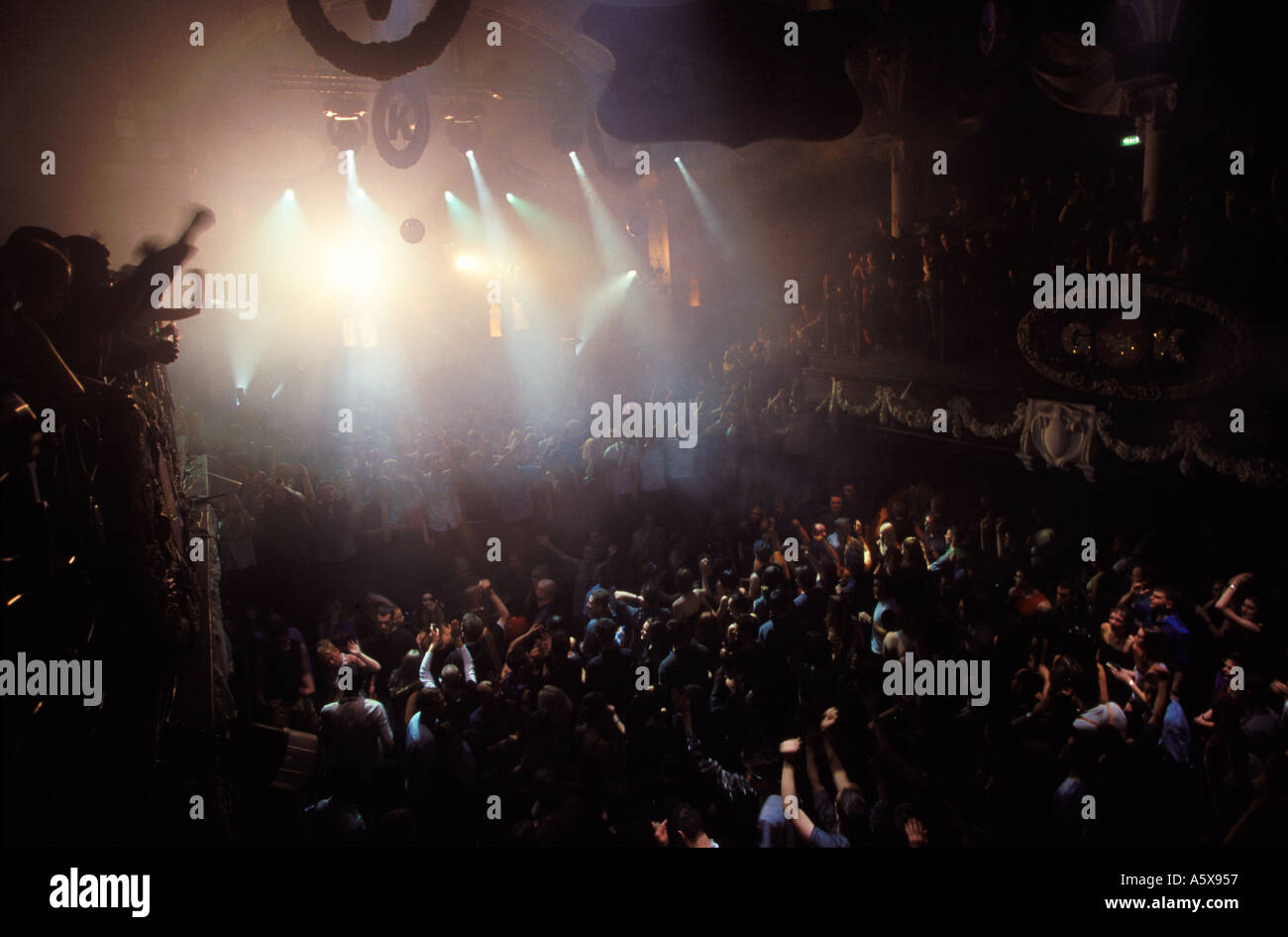 Crowd at Gods Kitchen The Sanctuary Birmingham - Stock Image