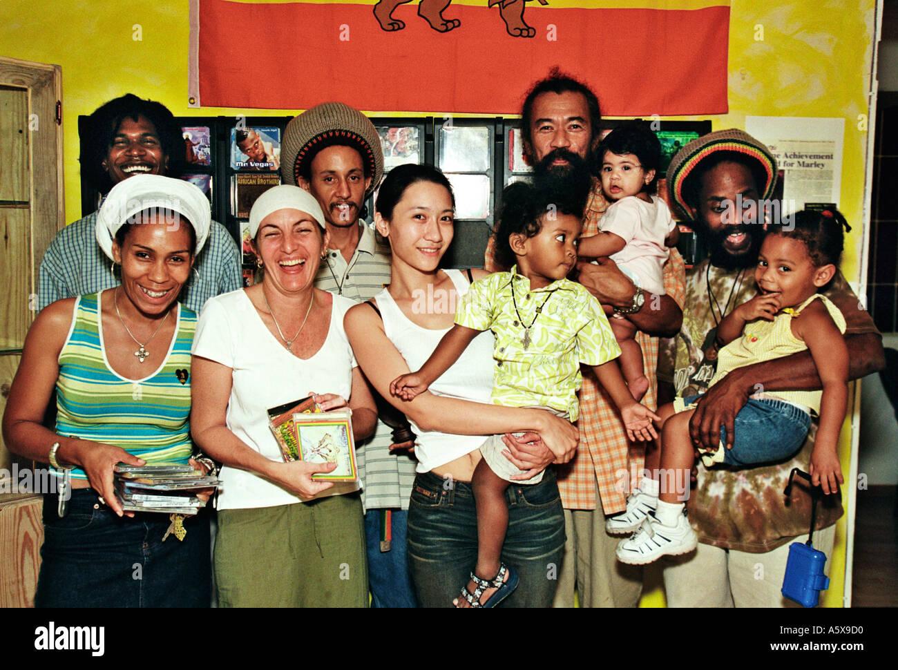Black Lion in Kingston Jamaica - Stock Image