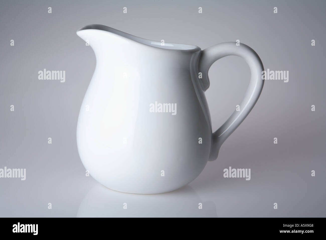 Porcelain Cream Pitcher - Stock Image