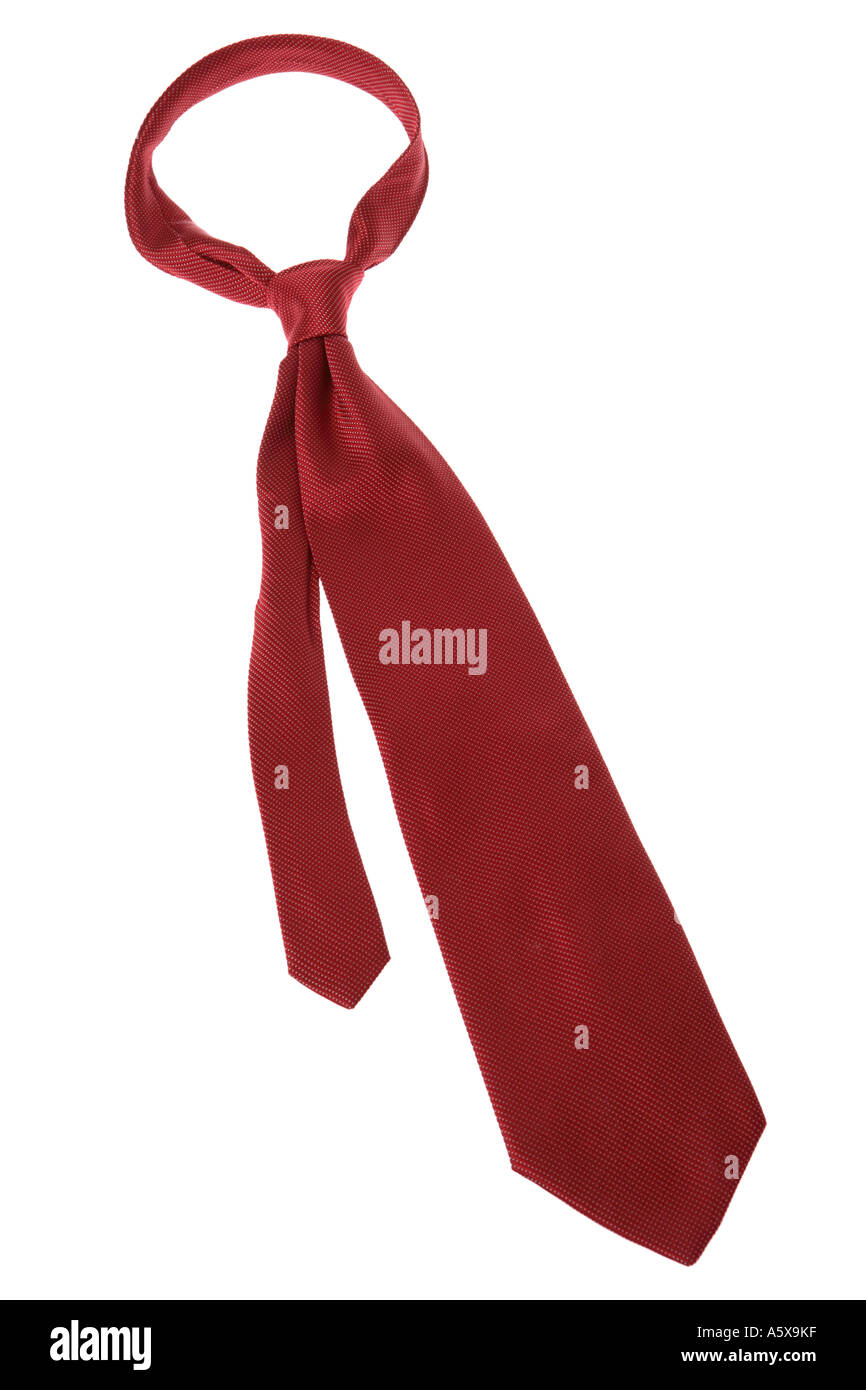 Red Necktie - Stock Image