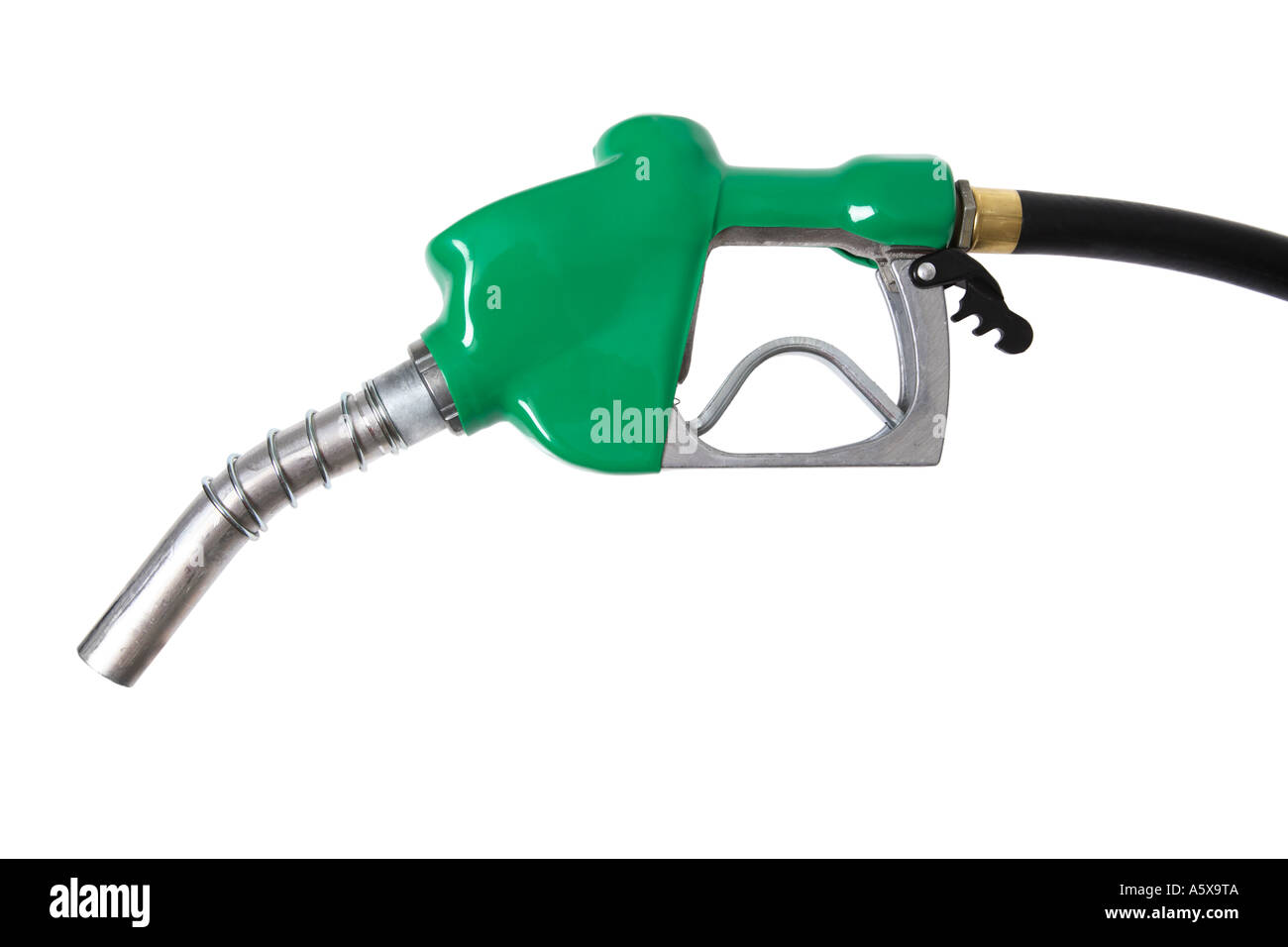 green gas nozzle - Stock Image