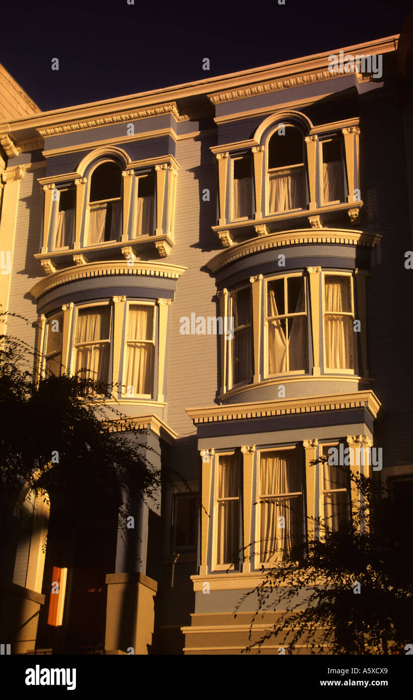 California San Francisco Victorian house exterior - Stock Image