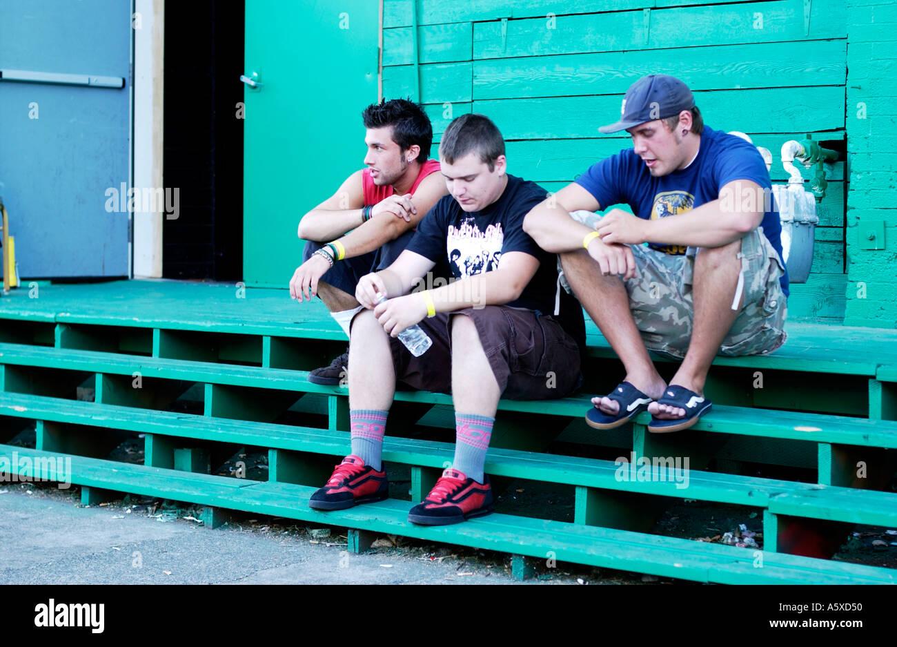 punk rock group - Stock Image