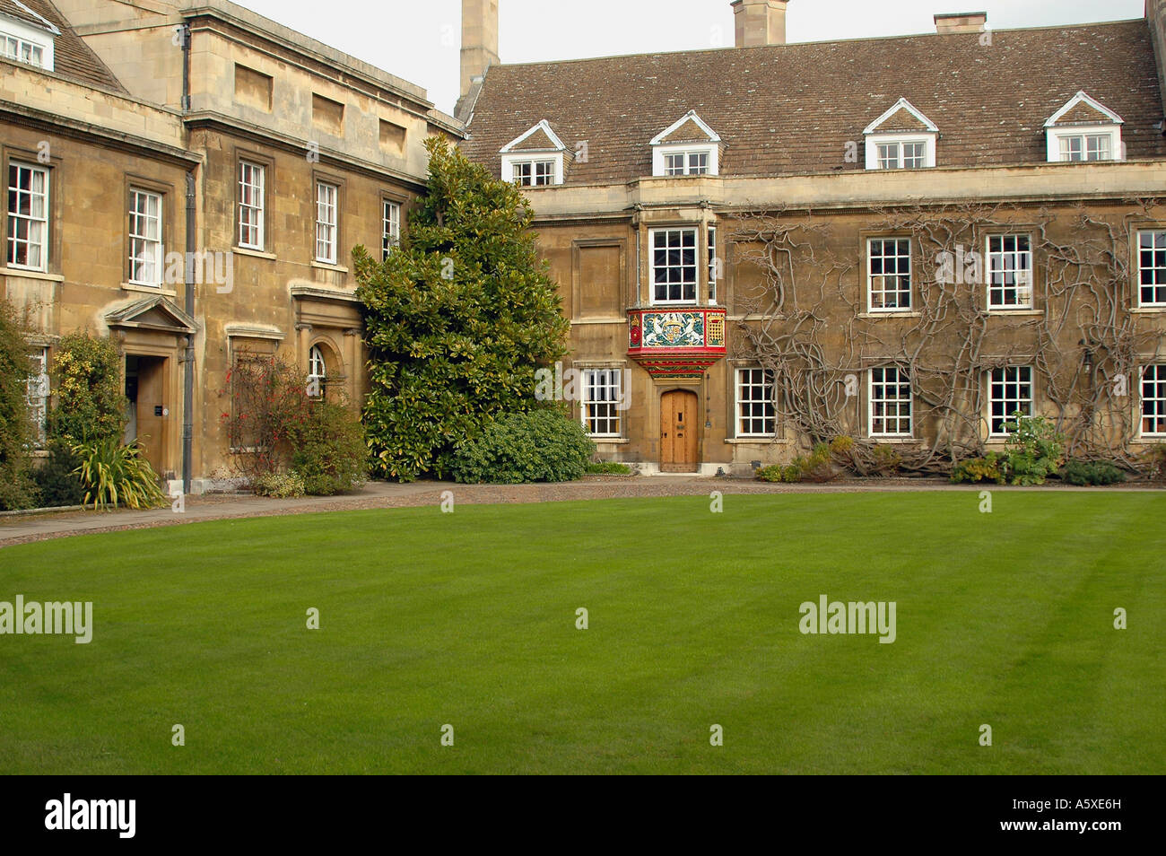 Painet iw1896 england cambridge university christs college first court masters lodge plain chapel 1500s area buildings - Stock Image