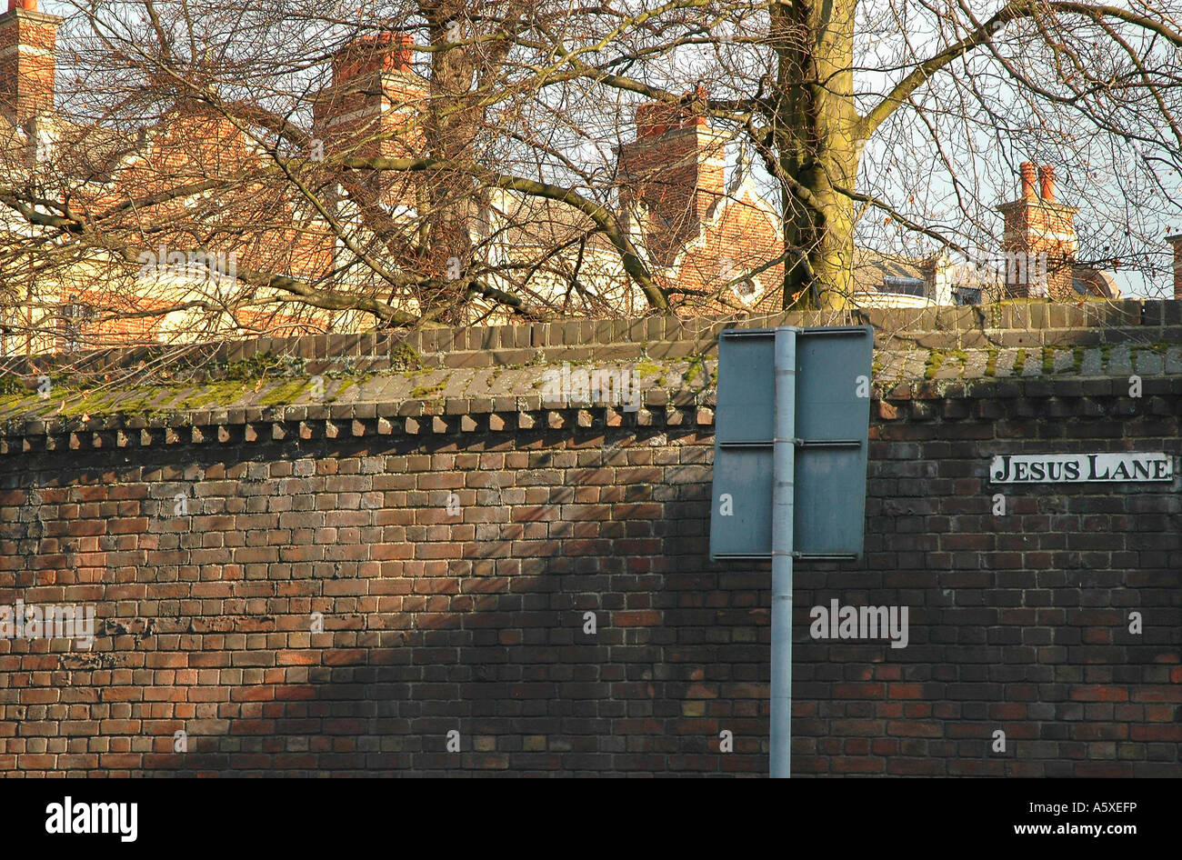Painet iw1936 england cambridge university sidney sussex college jesus lane brick wall academy association asylum - Stock Image