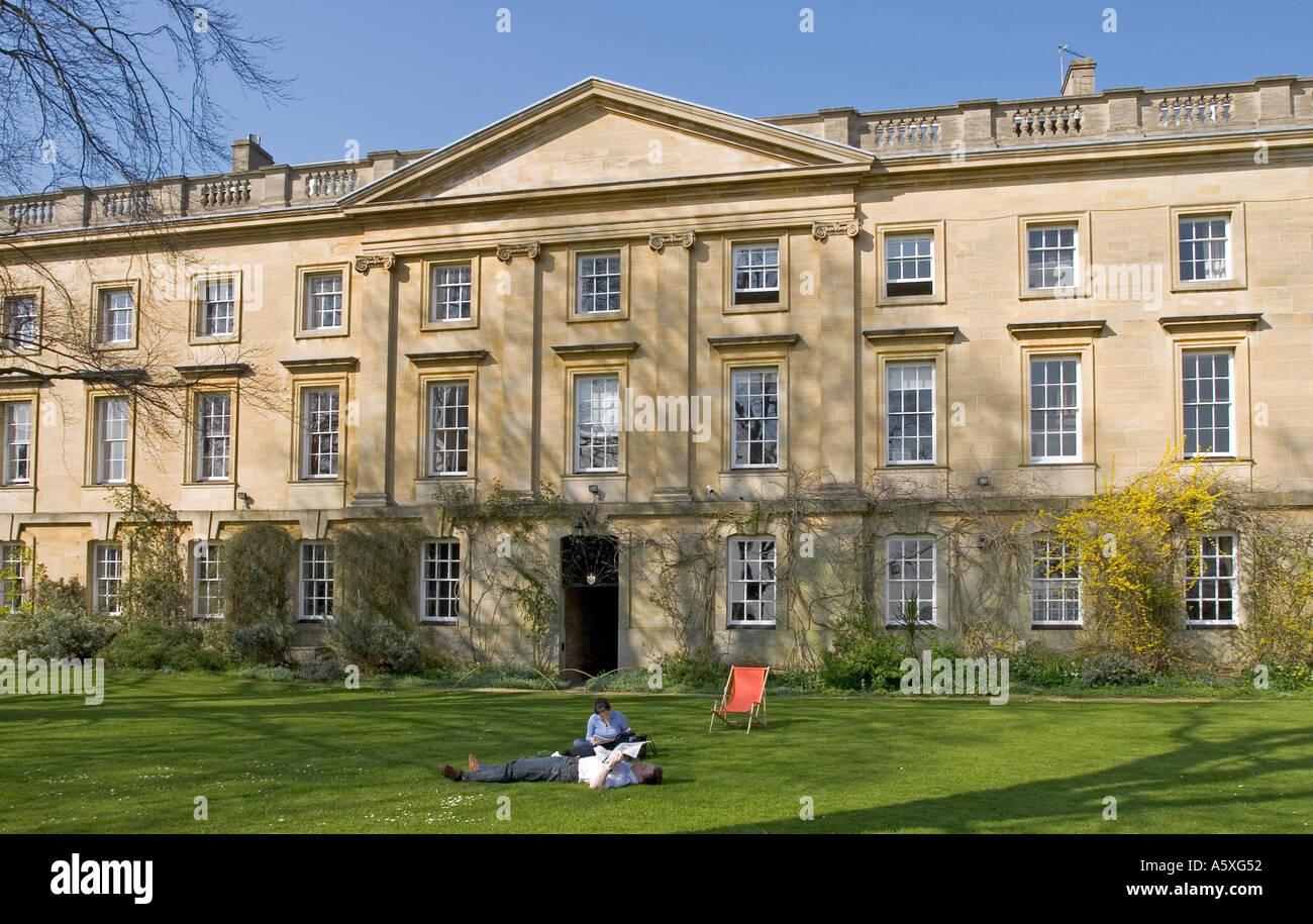 The Fellows Garden - Corpus Christi College - Oxford - Stock Image