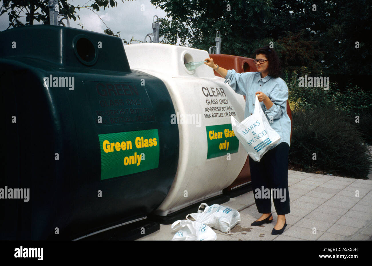 Bottle Bank Recycling - Stock Image