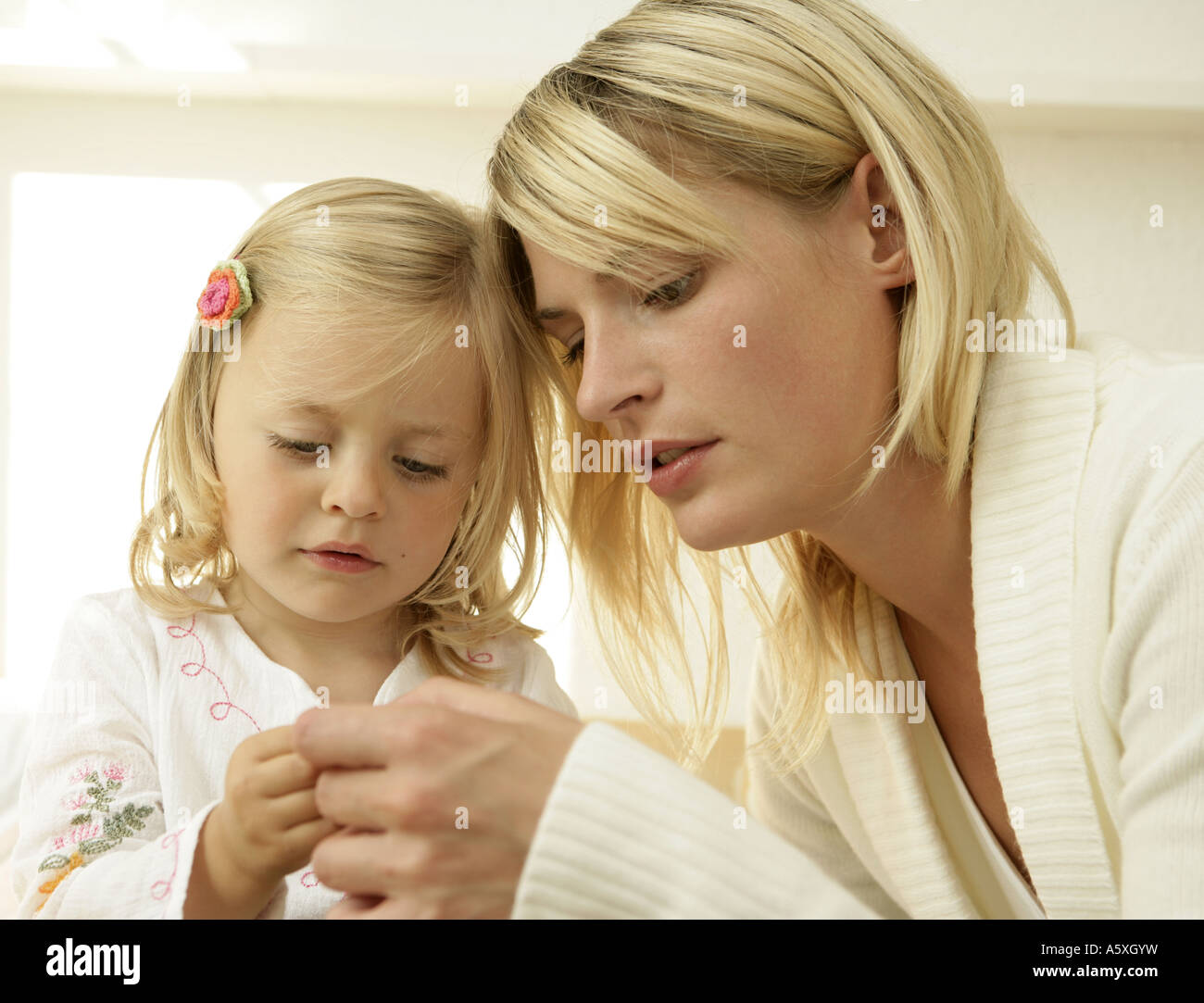 Mother with daughter close up - Stock Image