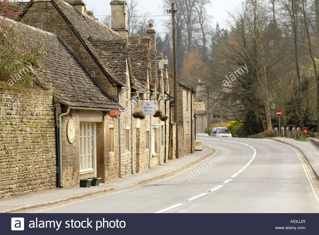 Bibury High Street, The Cotswolds - Stock Image
