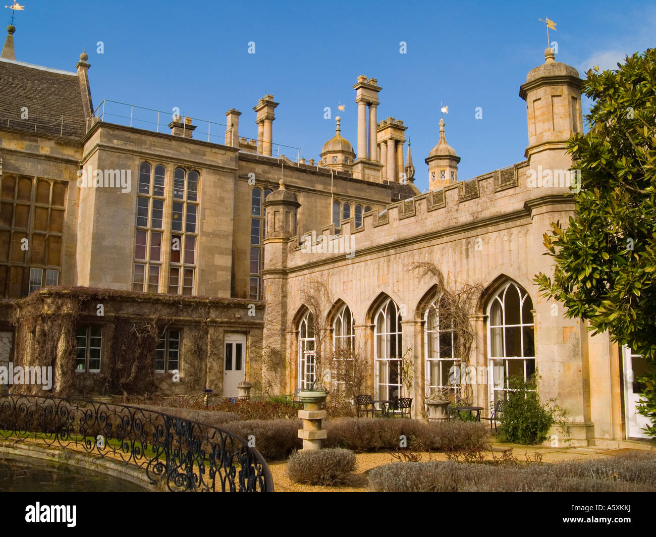 The Orangery Restaurant at Burghley House, Stamford Lincolnshire UK Stock Photo