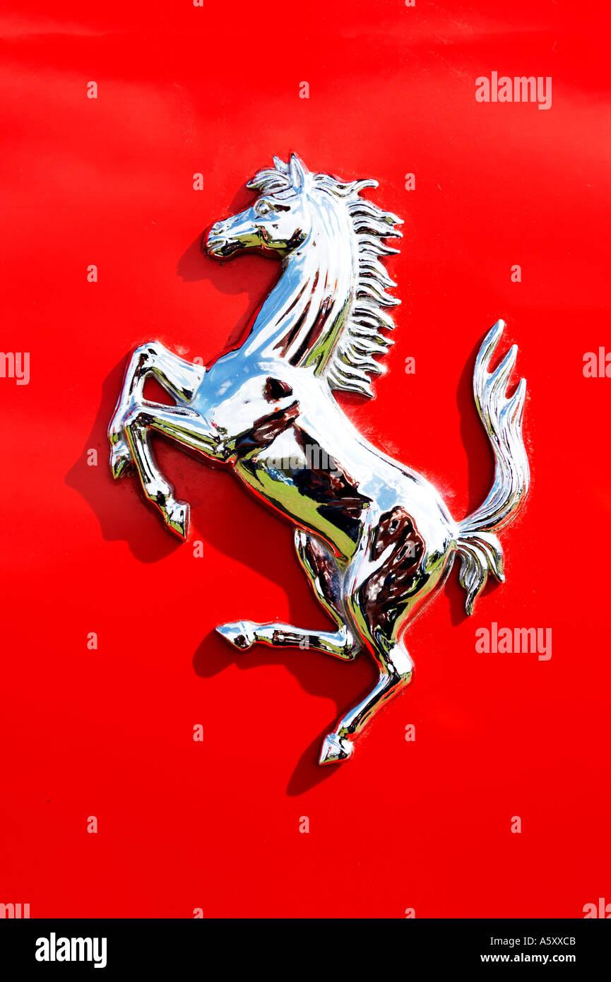 Red Ferrari Prancing Horse Emblem Stock Photo 3723978 Alamy