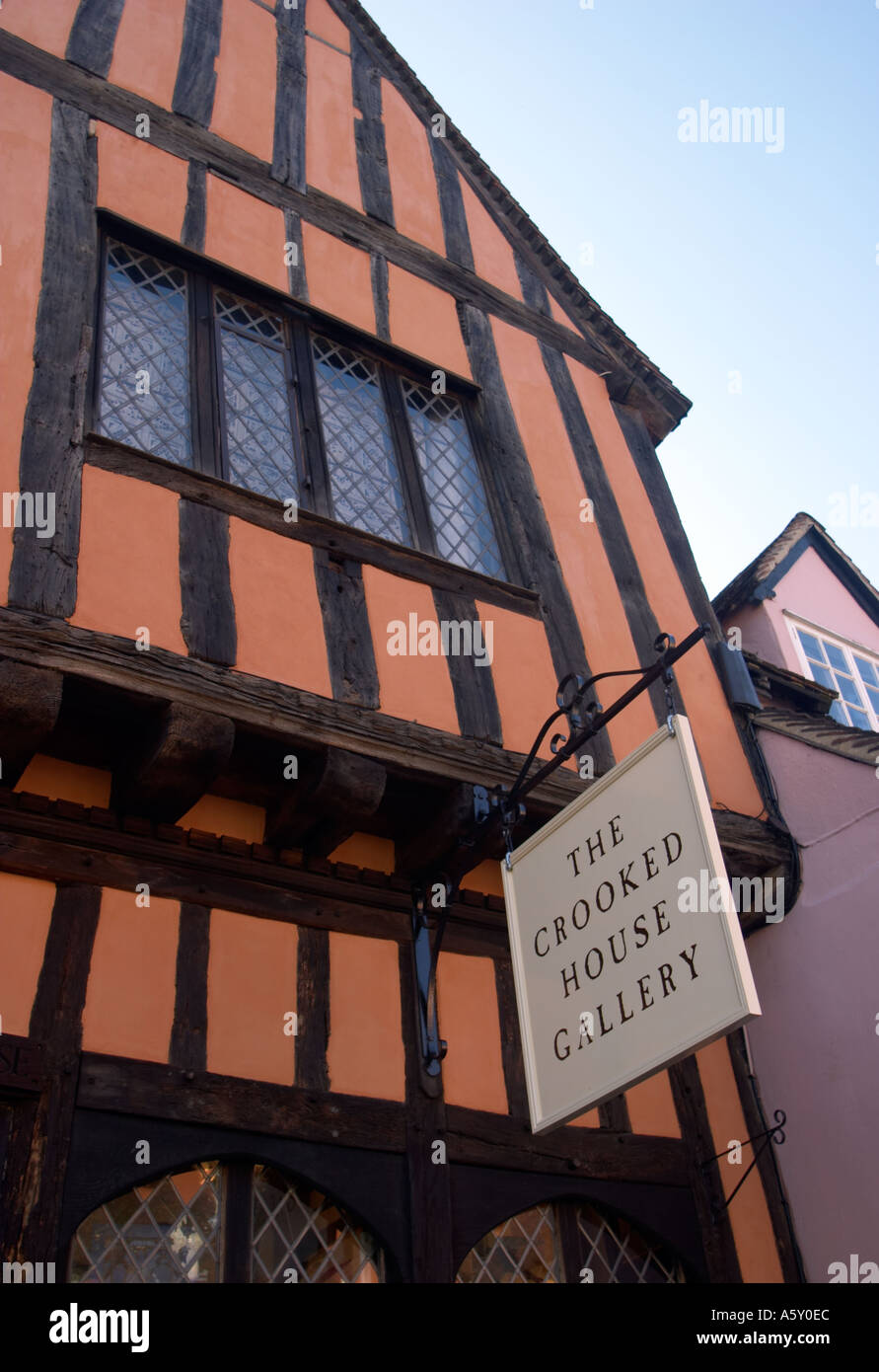 The Crooked House Lavenham Suffolk England - Stock Image