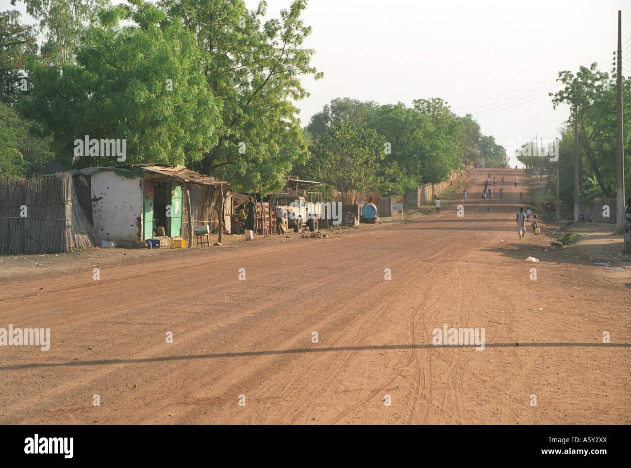 Steet of Juba, South Sudan - Stock Image
