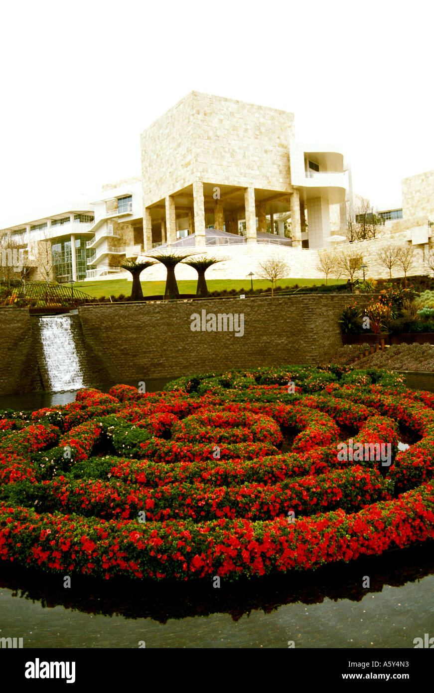 California Los Angeles Getty Museum gardens - Stock Image