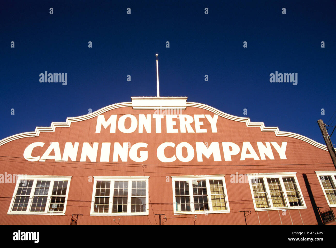 California Monterey Cannery Row Monterey Canning Company Building - Stock Image