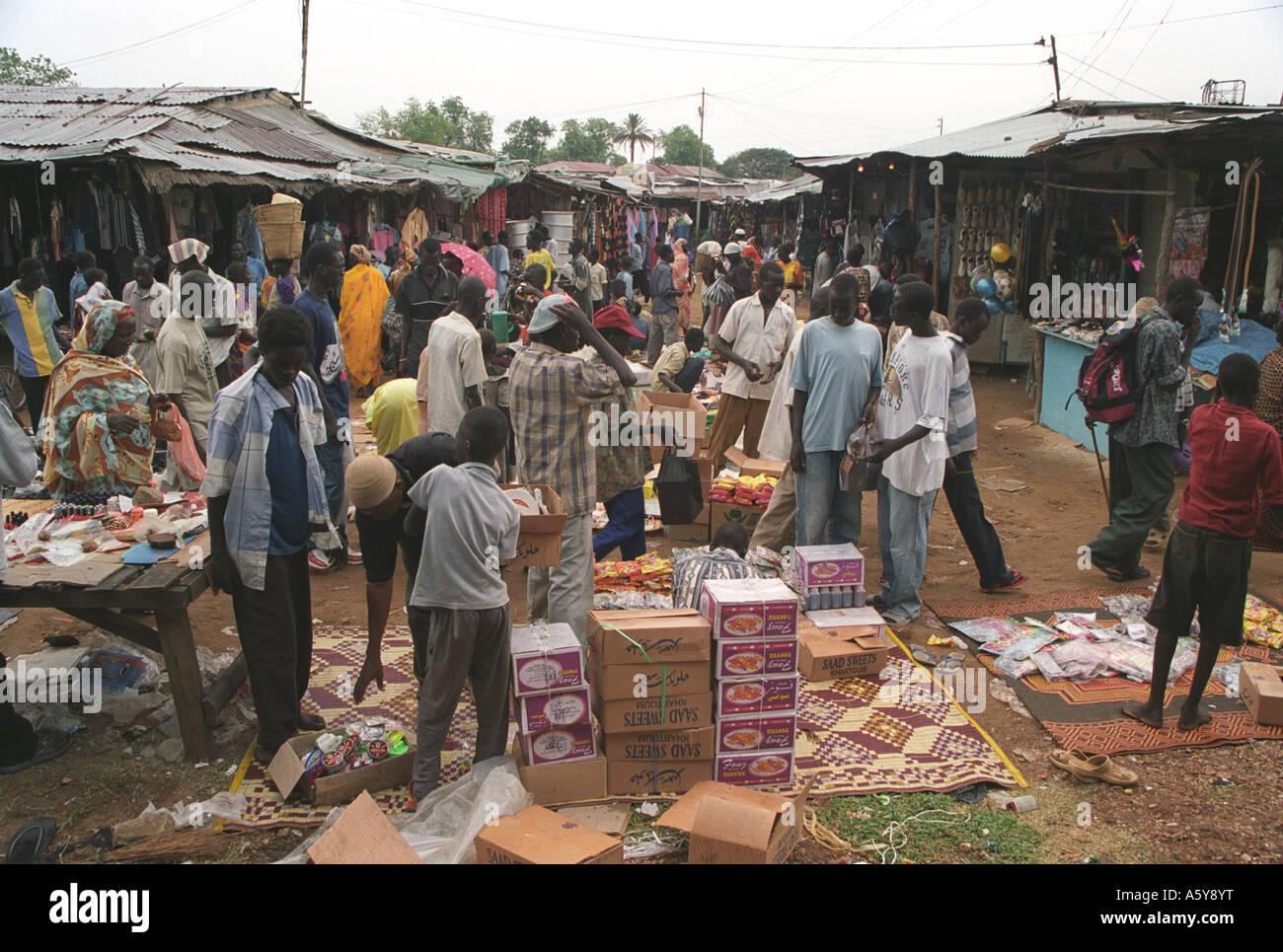 Juba market, South Sudan - Stock Image