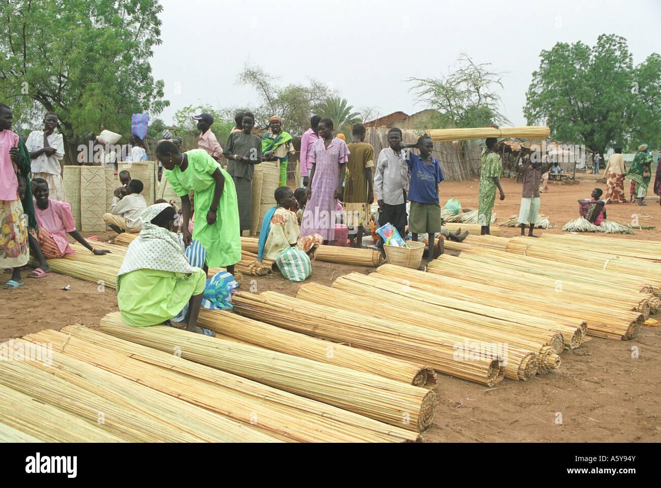 Women at Juba market, South Sudan - Stock Image
