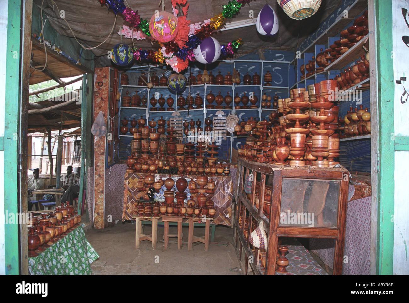 Shop at Juba market, South Sudan - Stock Image