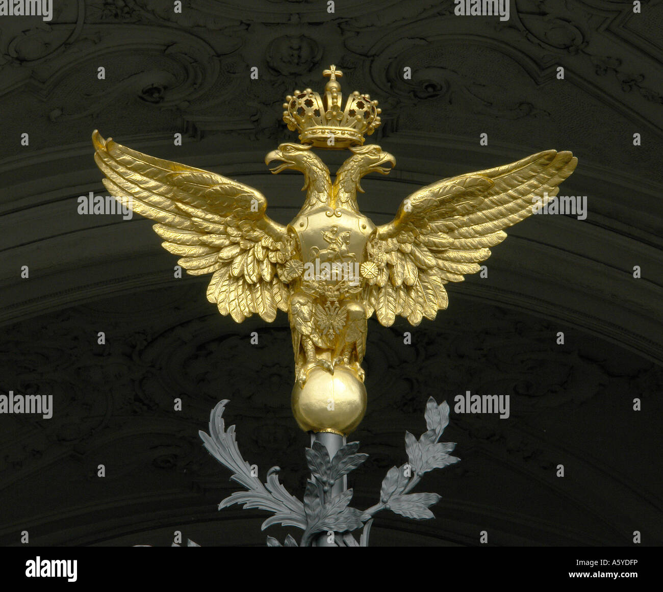 Painet Jj2018 Russia Russian Double Headed Eagle Gate Hermitage Winter Palace Saint St Petersburg 20060801