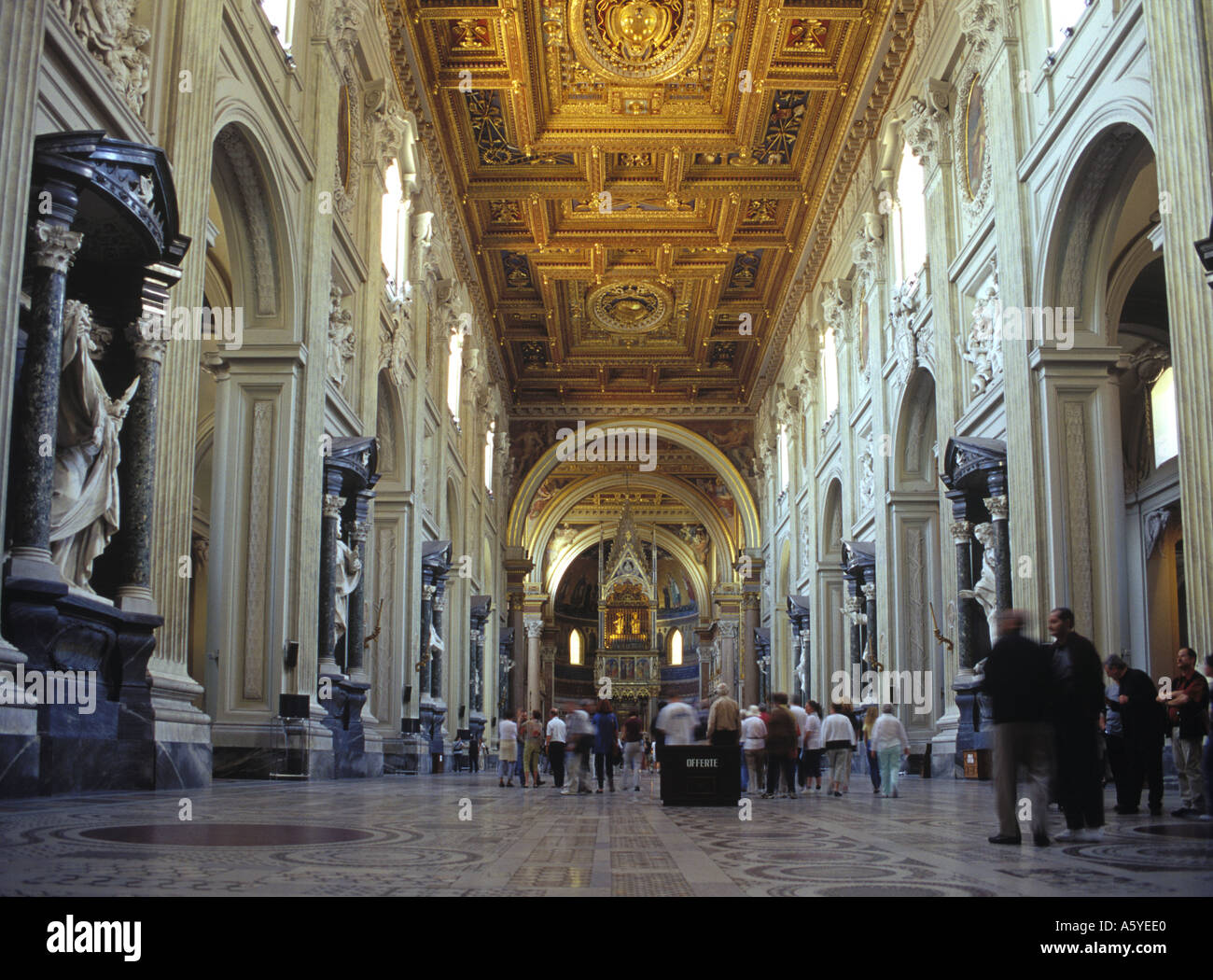 The Vatican Basillica of San Giovanni in Rome Stock Photo