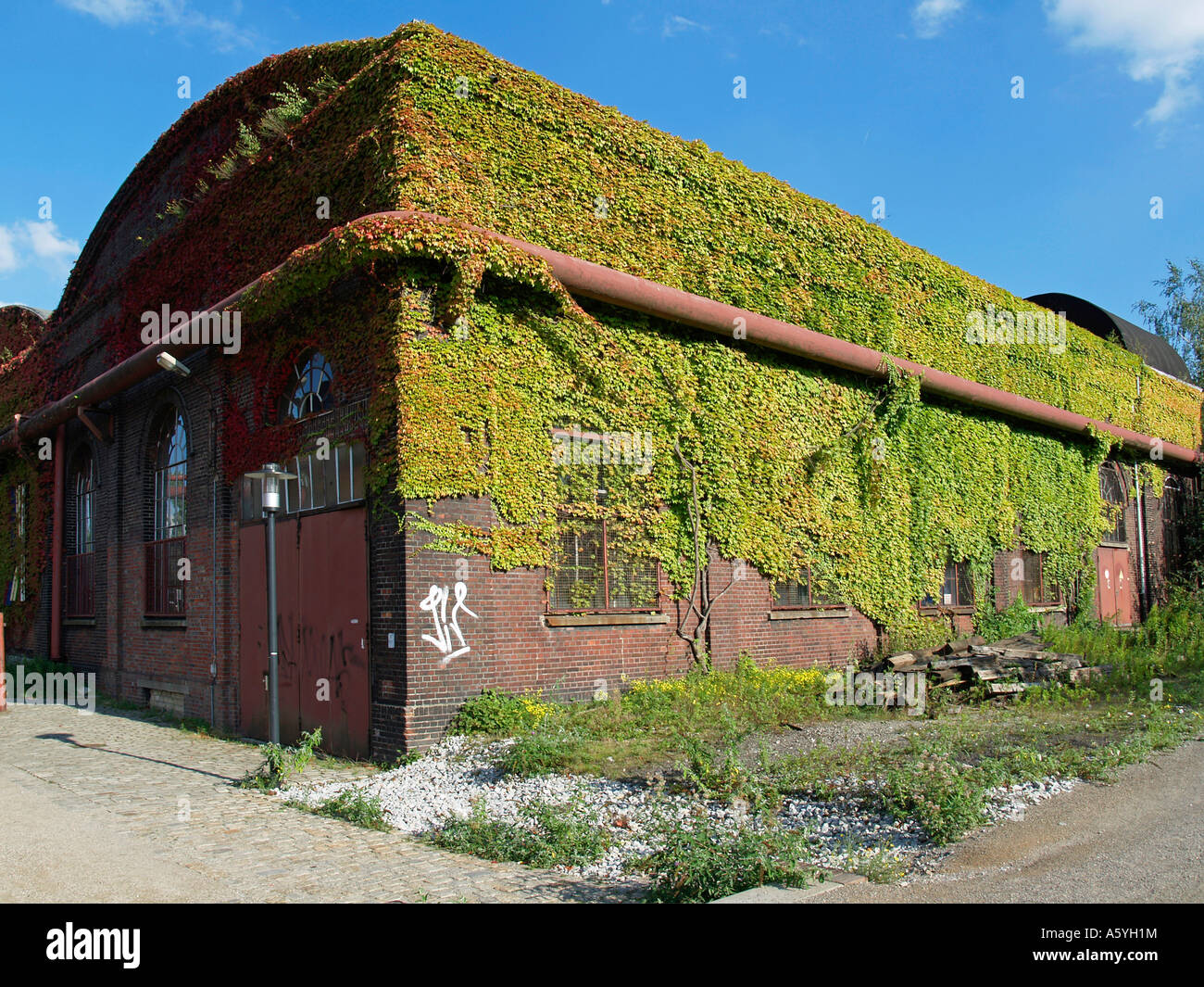 old industrial plants on the area of the Unesco world heritage site mine coal mine Zeche Zollverein in Essen - Stock Image