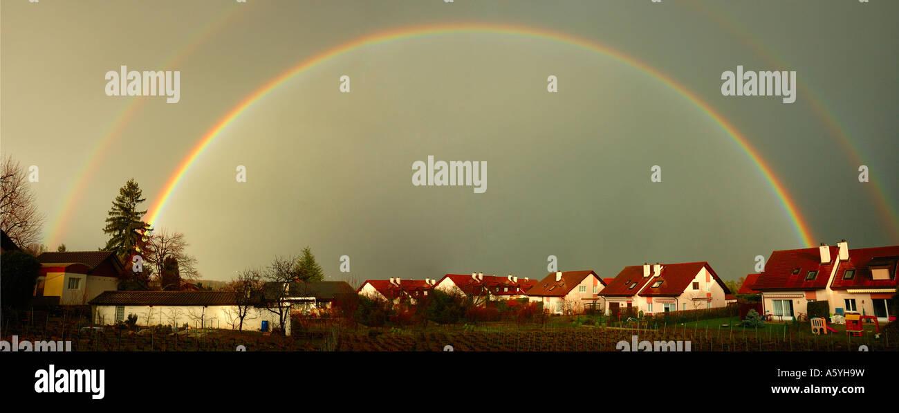 A double rainbow - Stock Image