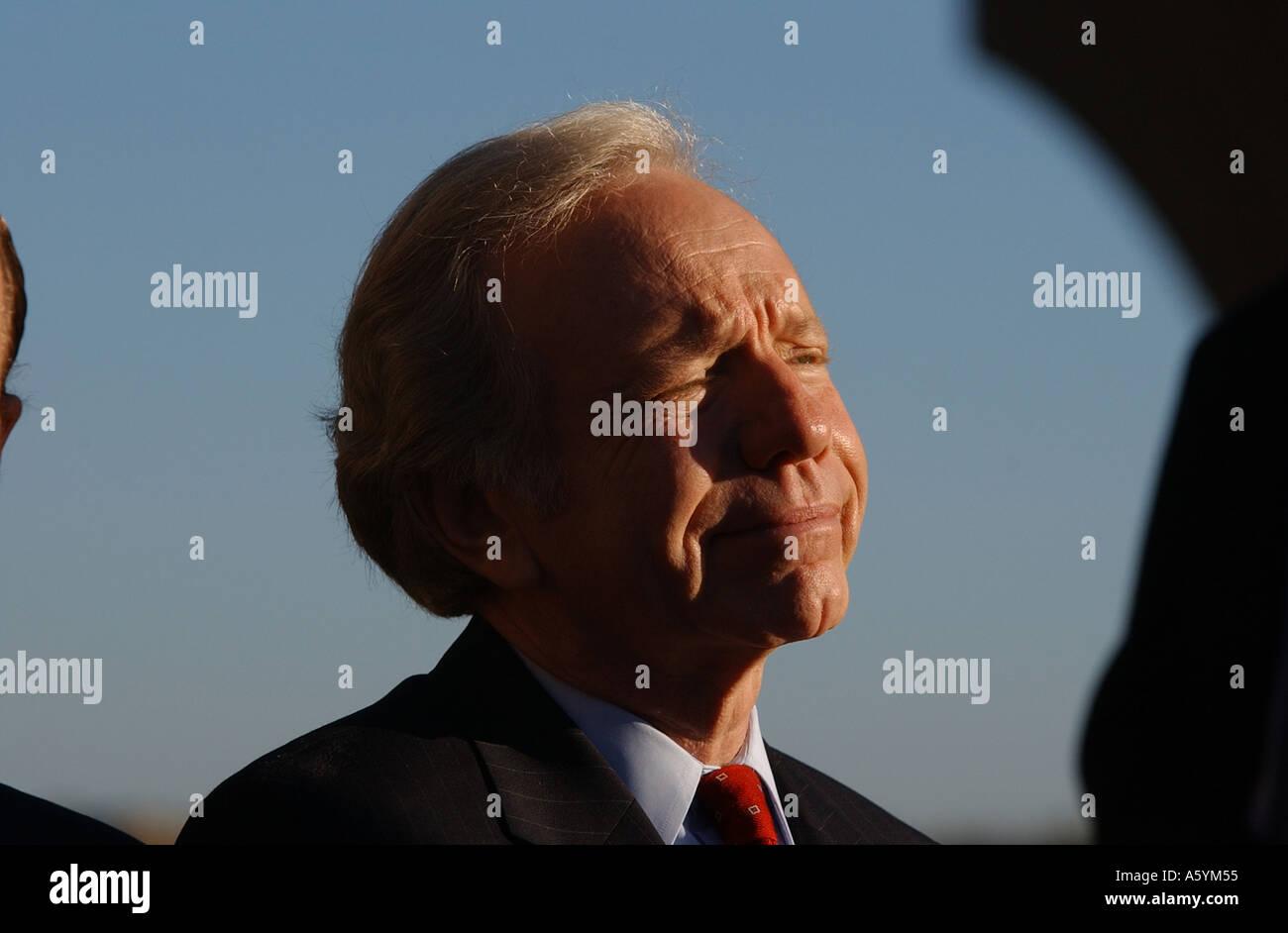 Senator Joe Lieberman campaigns for the US Presidency in 2004 - Stock Image