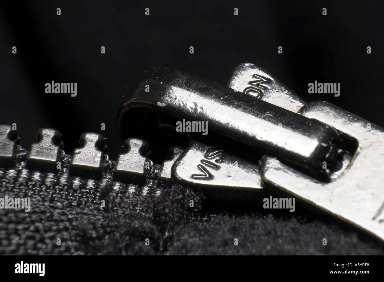 details of zipper - Stock Image