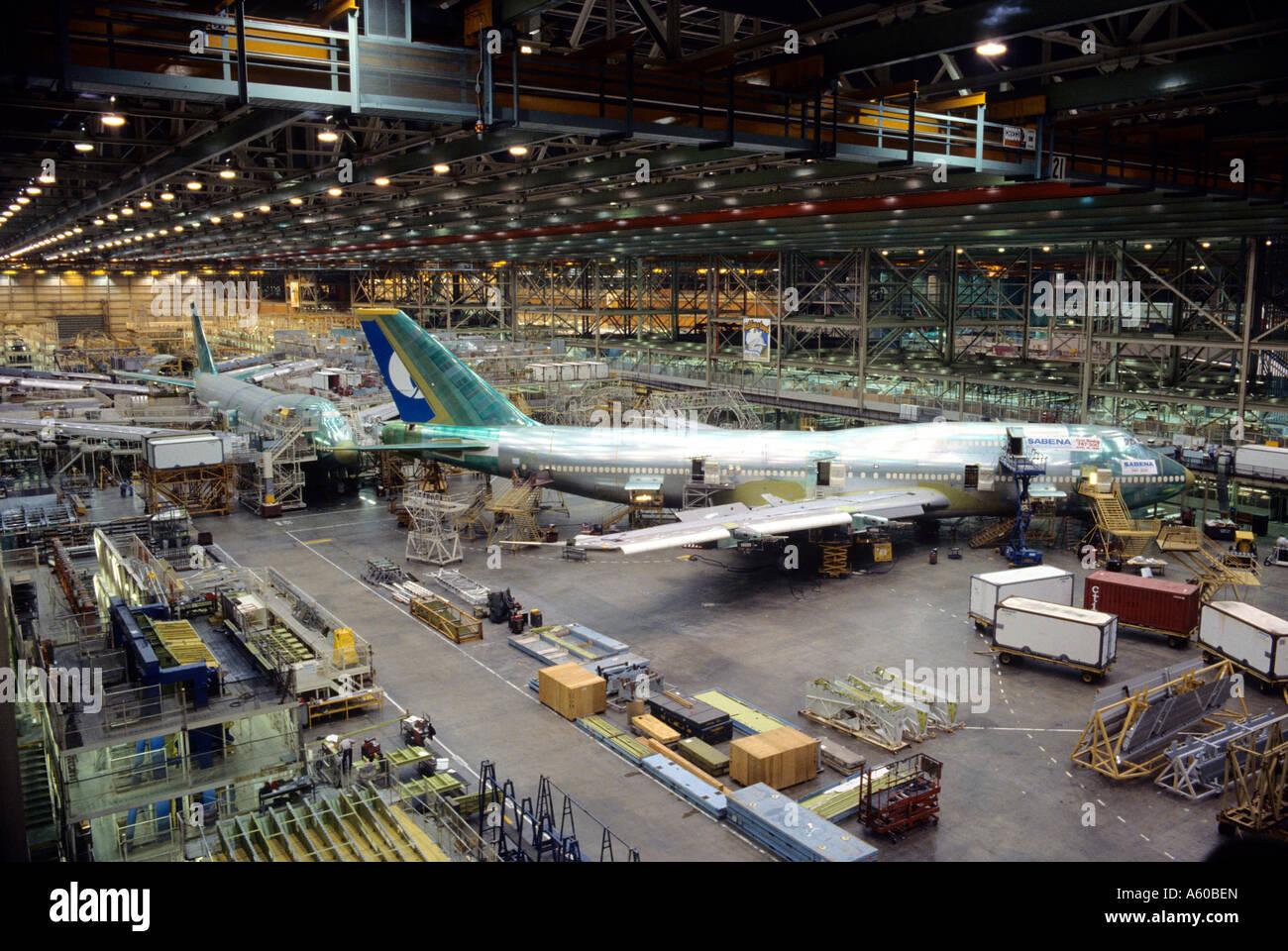 Boeing 747 plant in Everett Washington Stock Photo: 11418908