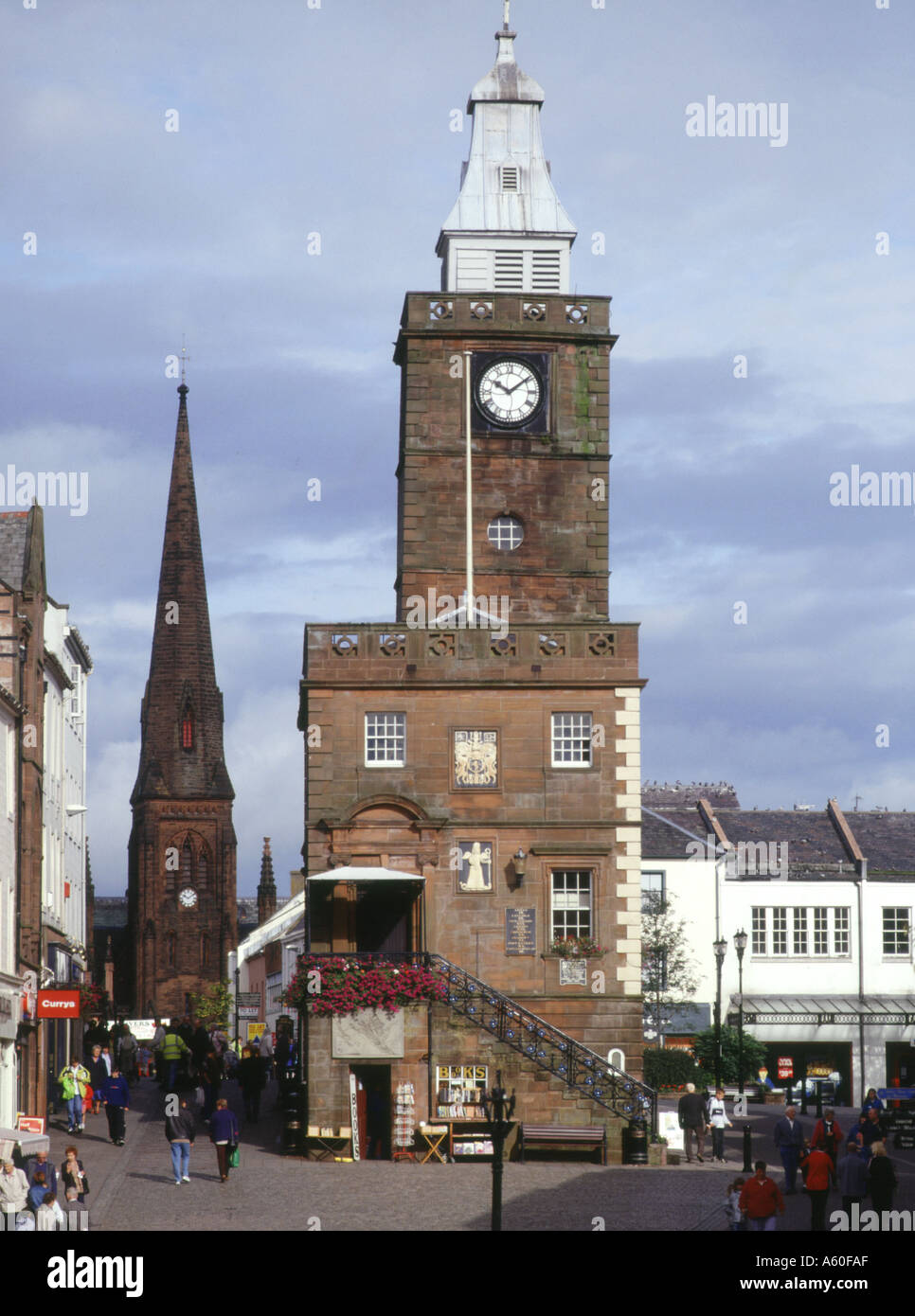 dh Town house DUMFRIES GALLOWAY Main street Stock Photo