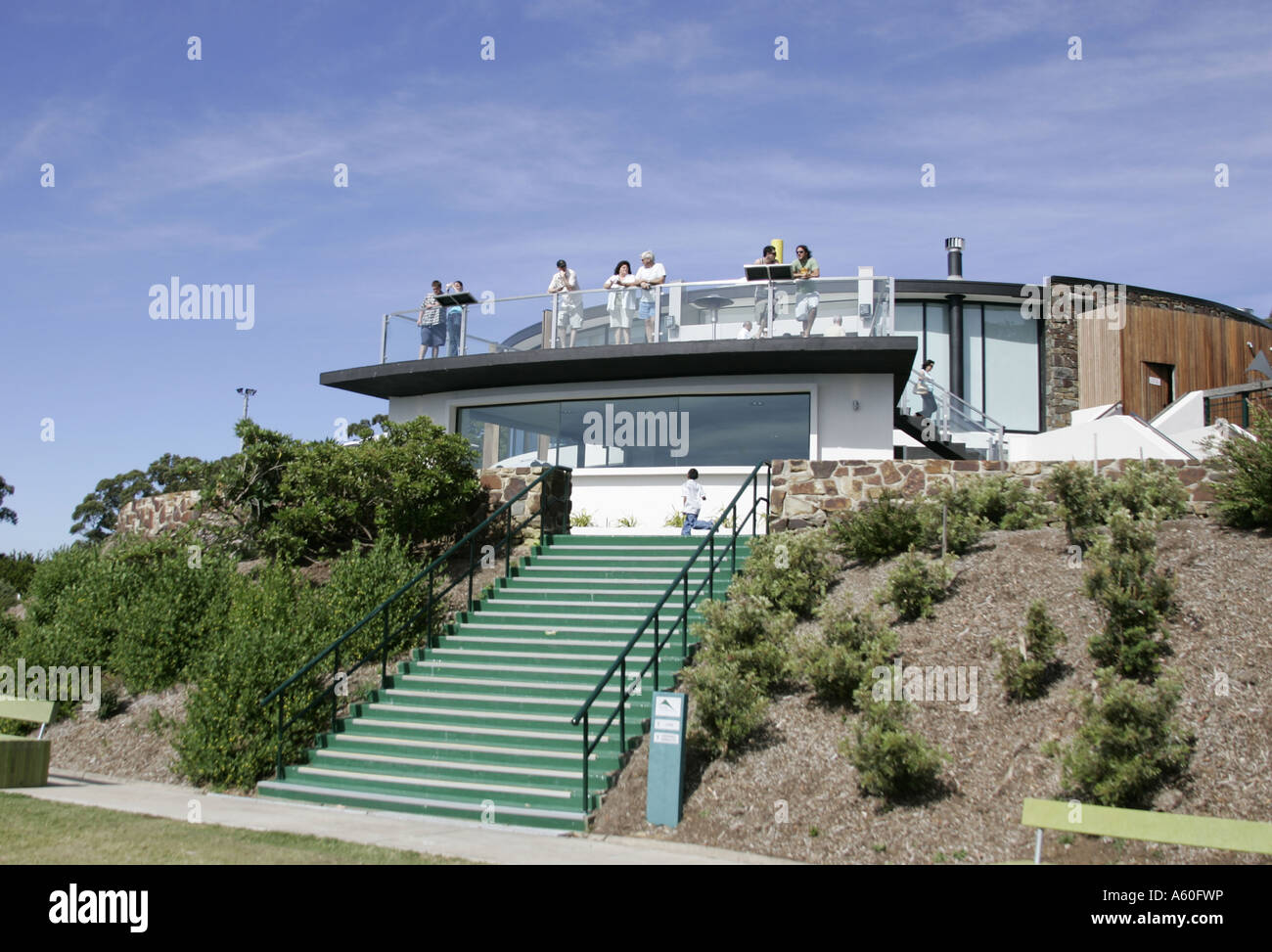 SkyHigh restaurant and viewing platform  on Mt.Dandenong in Victoria,Australia. - Stock Image