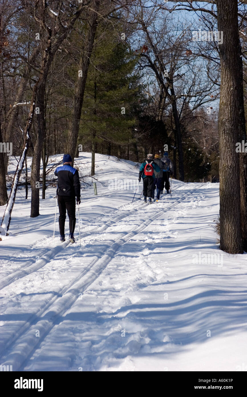 Cross Country Ski Trail Ontario Canada Stock Photo ...