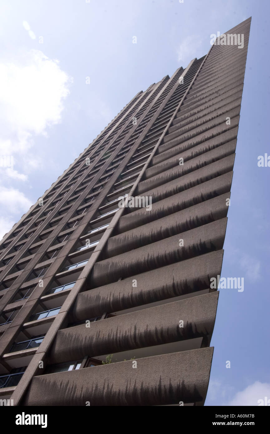 tower block barbican centre center central London - Stock Image