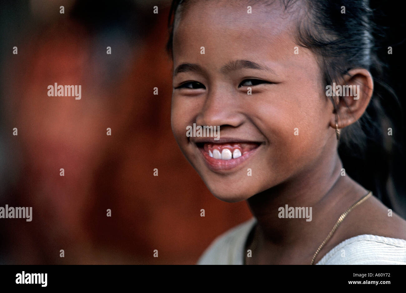 Balinese girl from the village of Amed at a community event Bali Indonesia - Stock Image