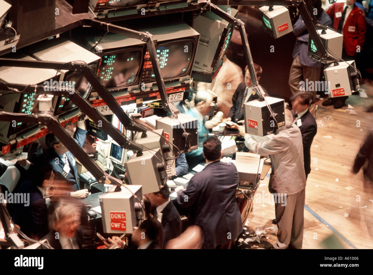 New York, NY, USA, New York Stock Exchange, Overview of Floor, Stock Traders NYSE, View from Above - Stock Image