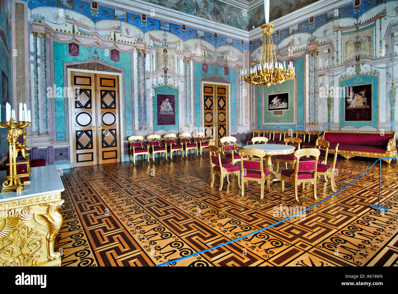 Salon of Queen Therese, Residenz, Munich, Bavaria, Germany - Stock Image