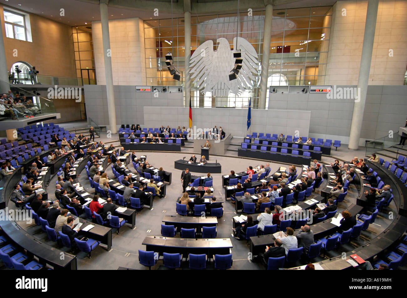 Session of the German Parliament, Berlin, Germany - Stock Image