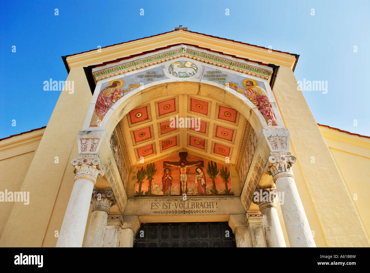Funeral parlour, North cemetery, Munich, Bavaria, Germany - Stock Image