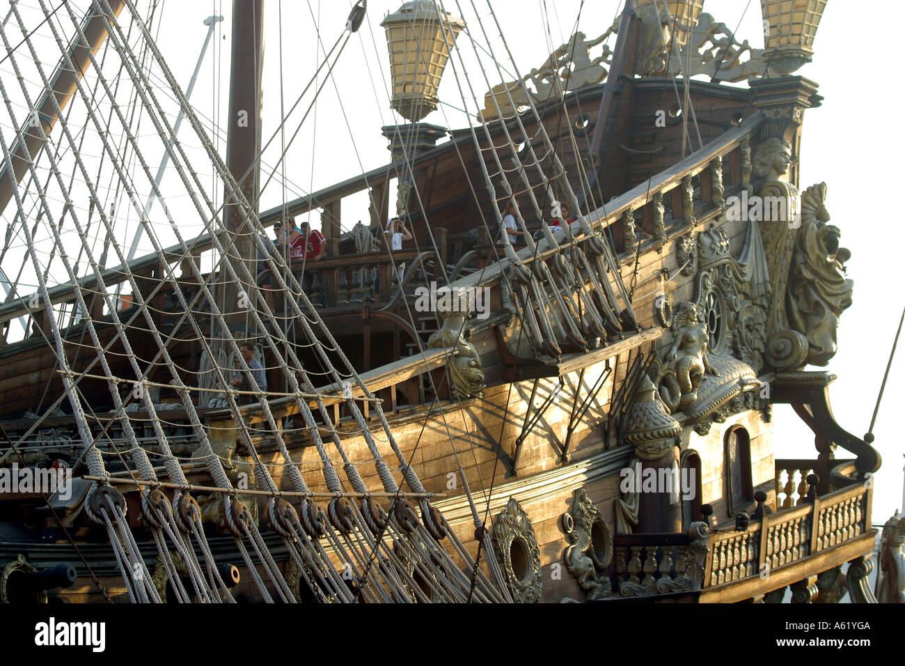 Pirates galleon Genoa Ligury Italy - Stock Image