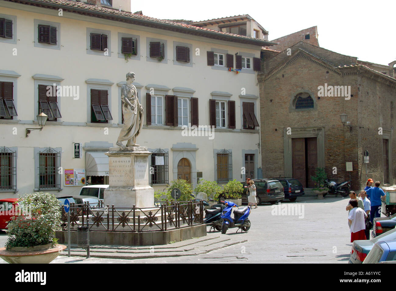 Buonaparte square San Miniato Tuscany Italy Stock Photo