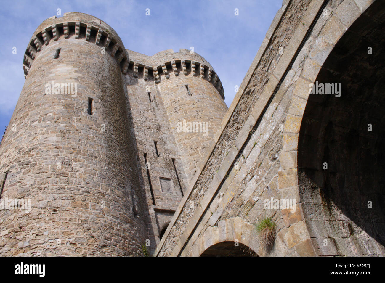 Fort de la Cité, St Servan, near St Malo, Brittany, France Stock Photo