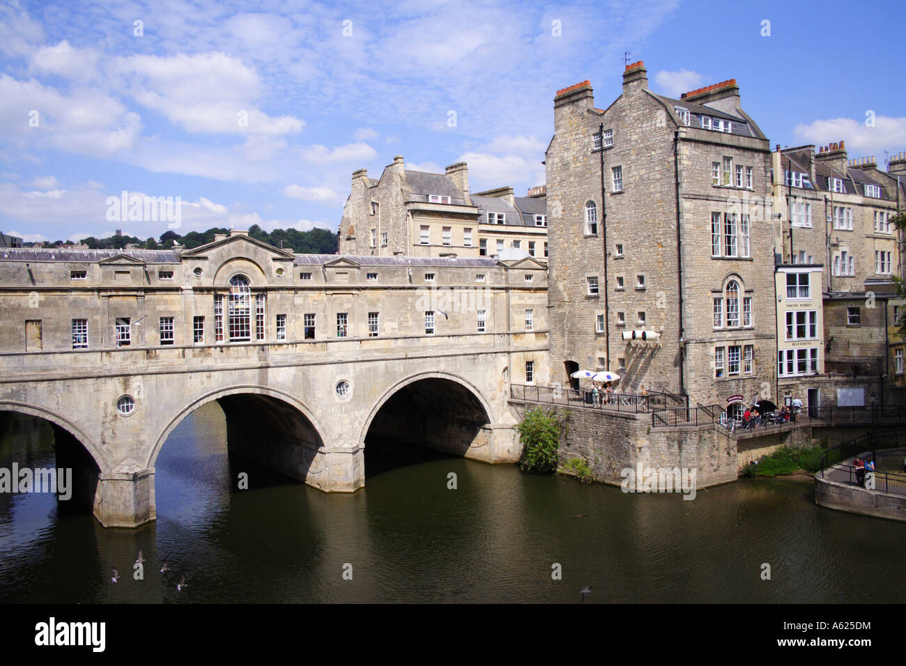 Pulteney Bridge, Bath, Avon, England Stock Photo