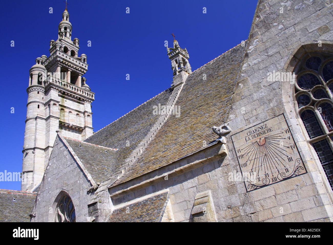 Église Notre Dame de Kroaz-Batz, Roscoff, Brittany, France Stock Photo
