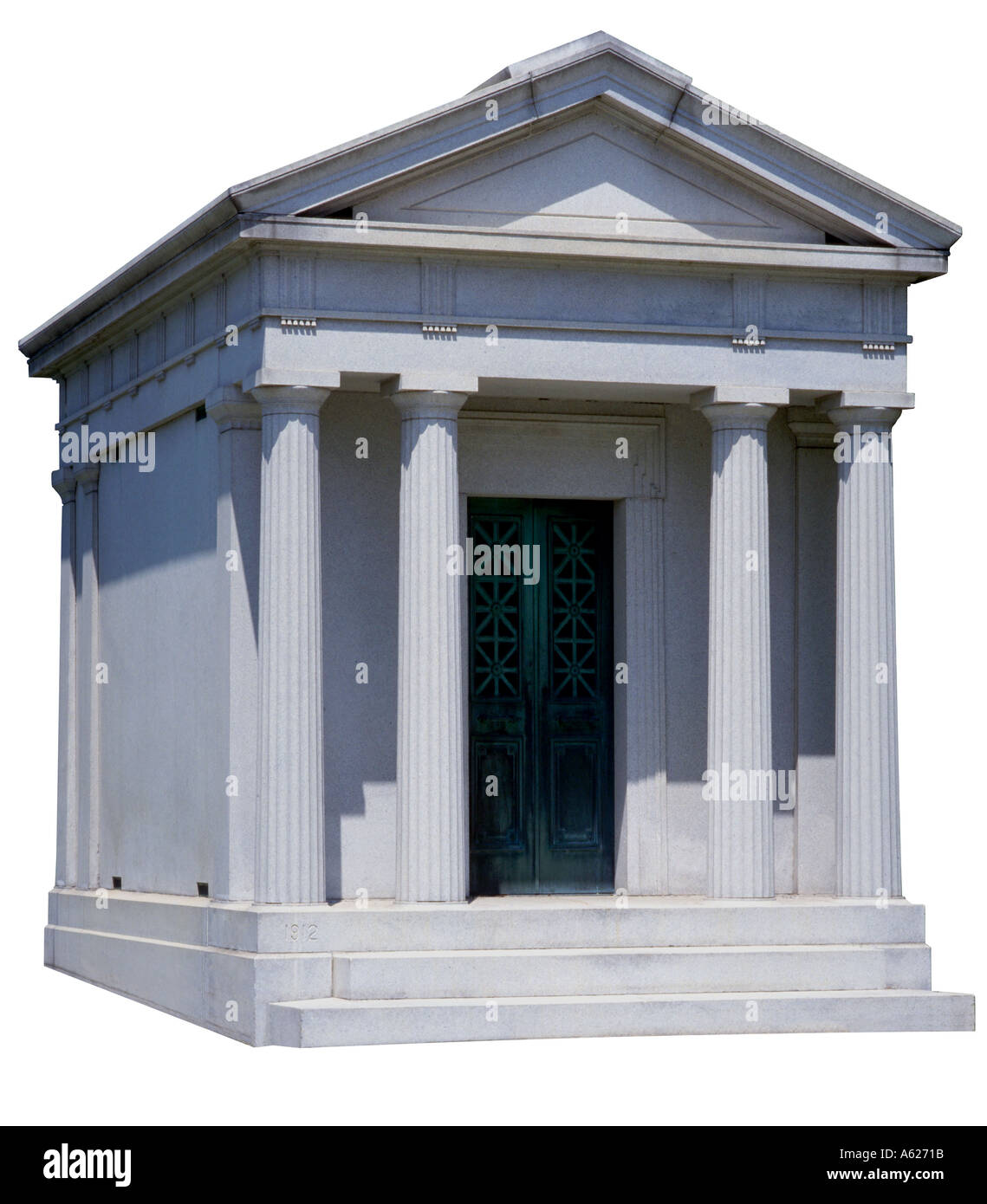 Greek building with columns - Stock Image