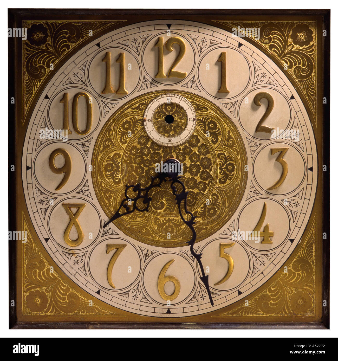 antique grandfather clock face with hands stock photo 403314 alamy