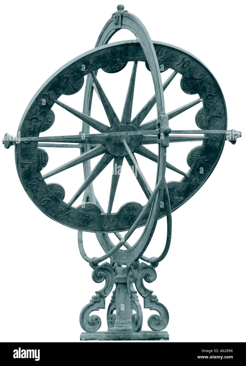 Armillary or sundial - Stock Image