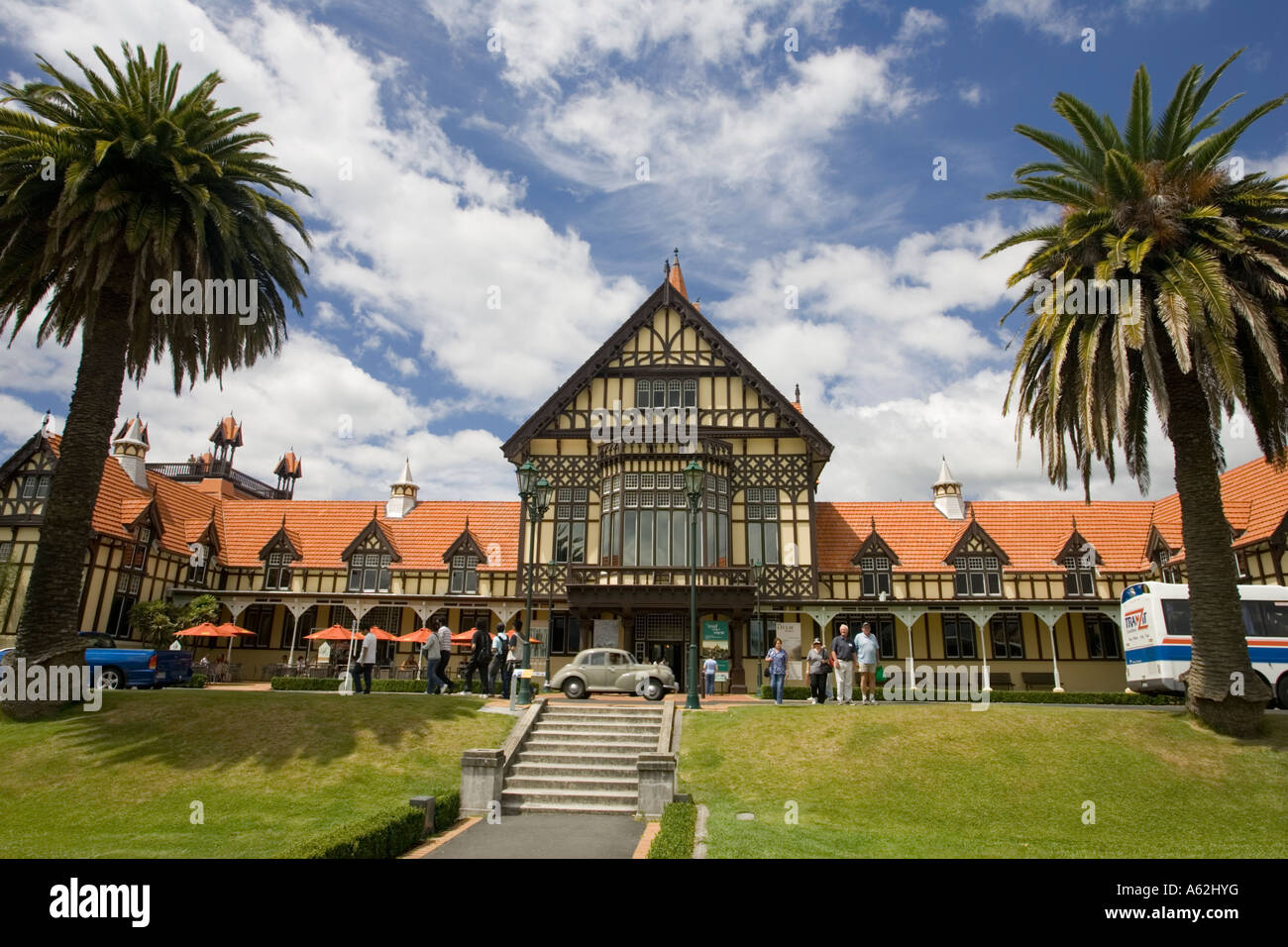 Museum of Art and History Government Gardens Rotorua North Island New Zealand Stock Photo
